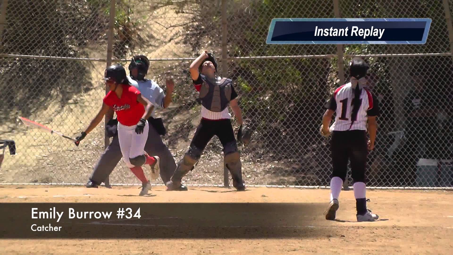 Emily Burrow Catcher Pop Fly Out Vs Quakes 2014 Tcs World Series Soft Softball World Series Travel Softball World Series