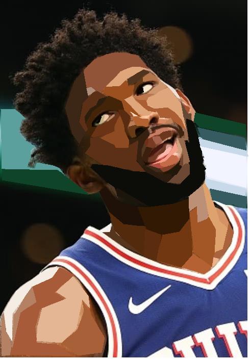 Joel Embiid Posterized Using Microsoft Paint Pop Art