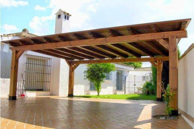 Imagen relacionada techos cobertizo coche techos para for Cobertizo de jardin de techo plano de pvc