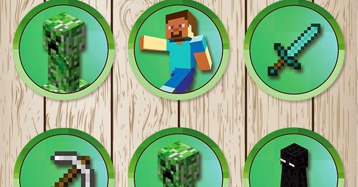 Free Printable Minecraft Cupcake Toppers With Images Minecraft
