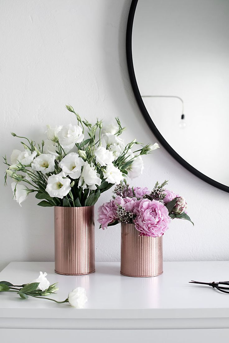 DIY Copper Vases   Flowers, Crafty and Apartments
