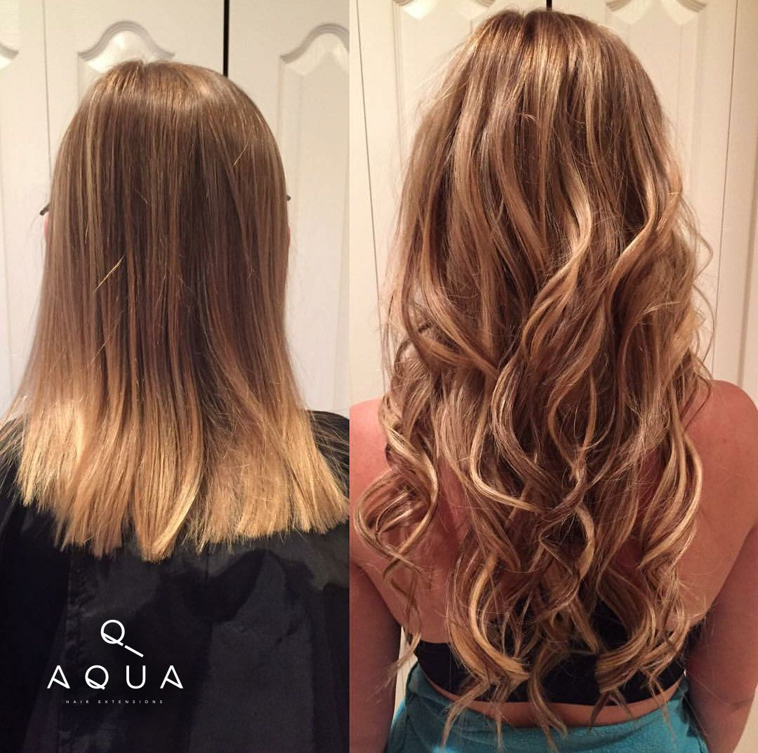 Thank you for sharing Kelly_wiesner. Before and After using Aqua Tape-in Hair Extensions.