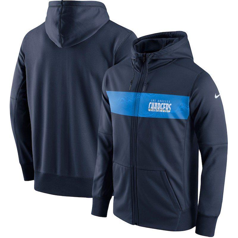 wholesale dealer 6d096 d9c12 Los Angeles Chargers Nike Team Sideline Full-Zip Performance ...