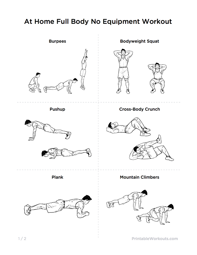 Pin By Dani W On Lookin Hott Workout Routine For Men No Equipment Workout Full Body Workout Routine
