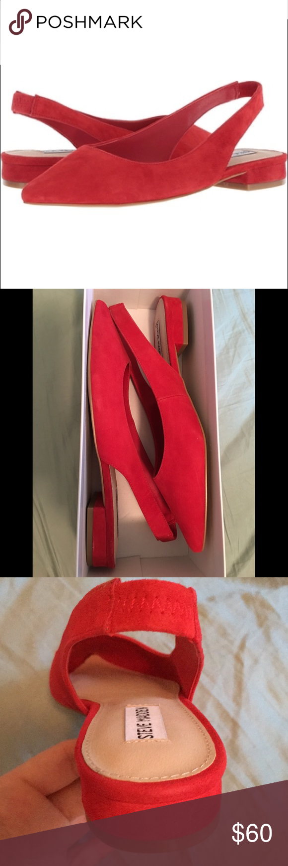 15008882453 👠 NWT Steve Madden Red Suede Envi Pumps 👠 Beautiful new in box red ...
