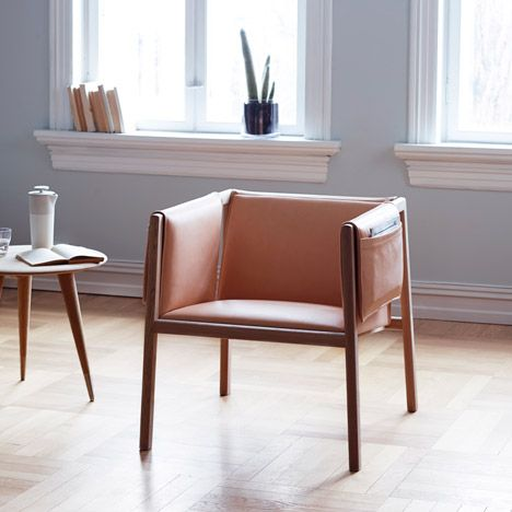 Dezeen's top picks for London Design Festival 2014 - Angell, Wyller & Aarseth's Saddle Chair features pockets in each arm.