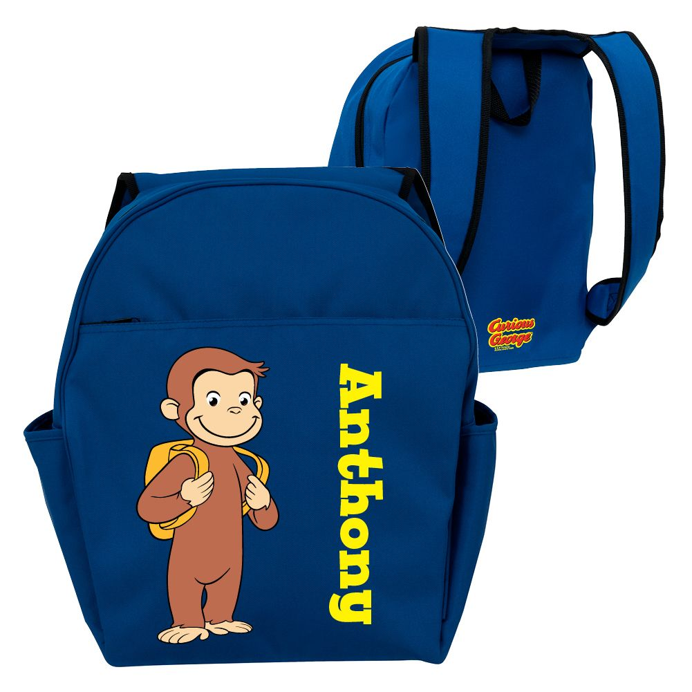 Curious George Ready For School Blue Toddler Backpack