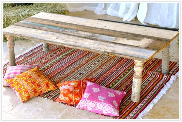 Construct a Moroccan-Style Table With Planks and Bed DIY