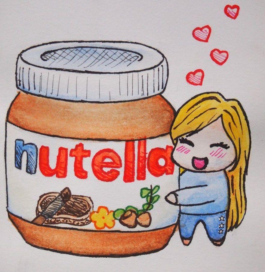 Nutella Drawing Love Cute Drawings Nutella Drawings