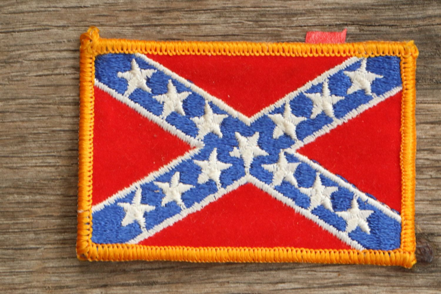 vintage confederate flag patch by superfinethings on etsy leather