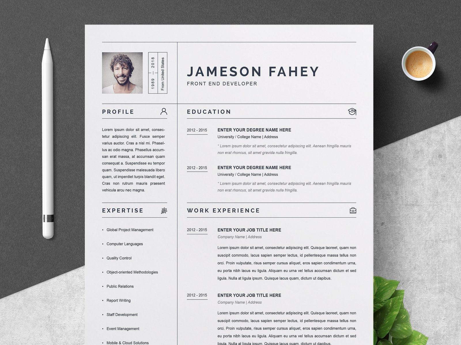 Clean Resume Cv Template Resume Template Examples Creative