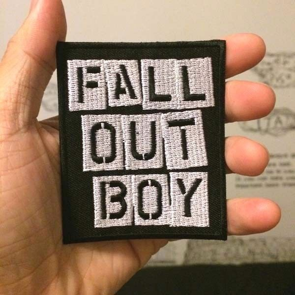 """FALL OUT BOY band PATCH 3.5/"""" Iron-on Rock Music Embroidered Band Patches FOB"""