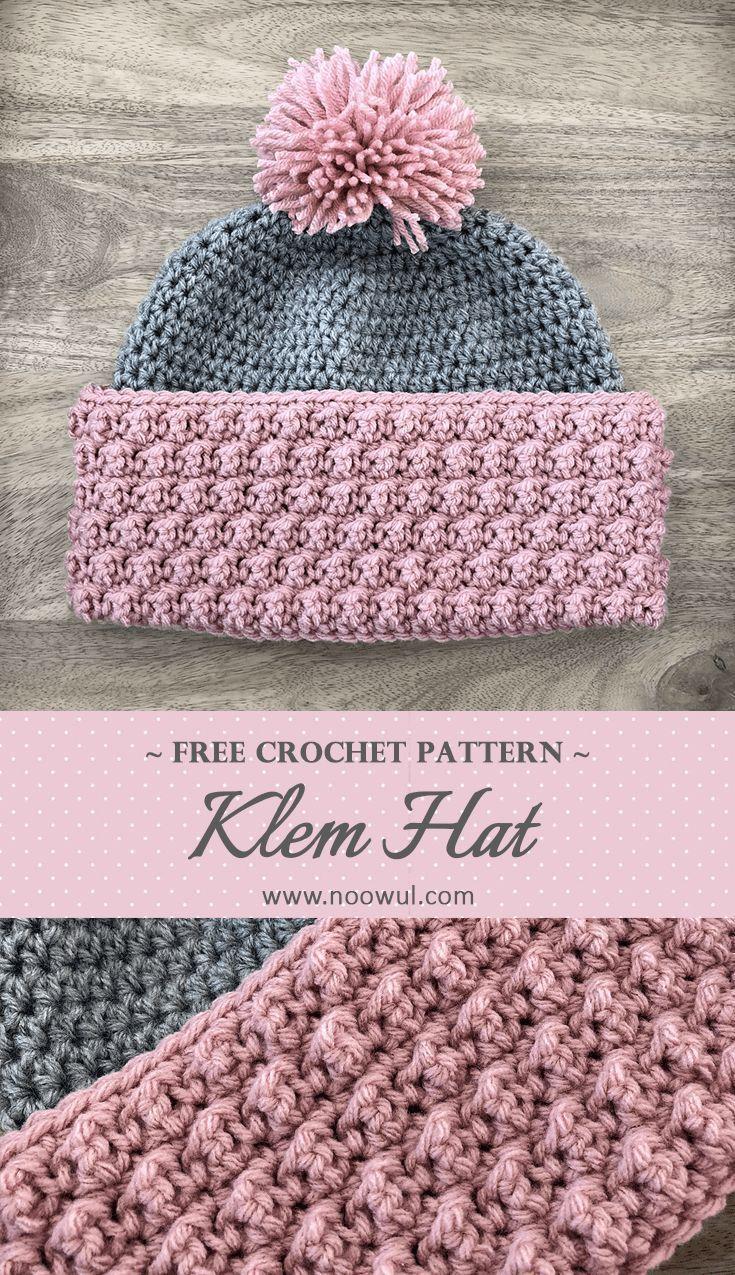 KLEM HAT | Noowul Designs - free #crochethatpatterns