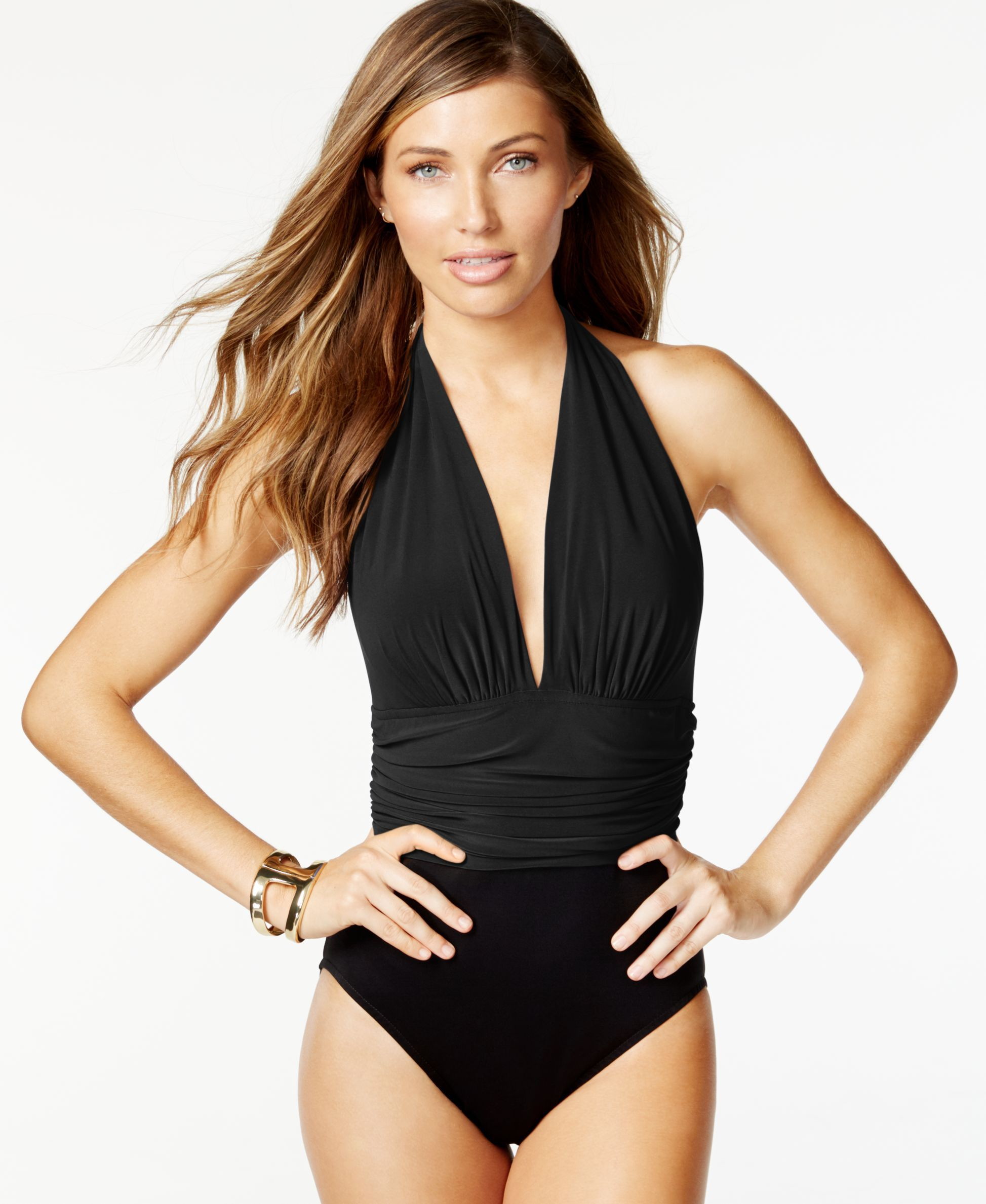 4a8c6048163aa Magicsuit Colorblocked Tummy-Control One-Piece Swimsuit | Summer ...