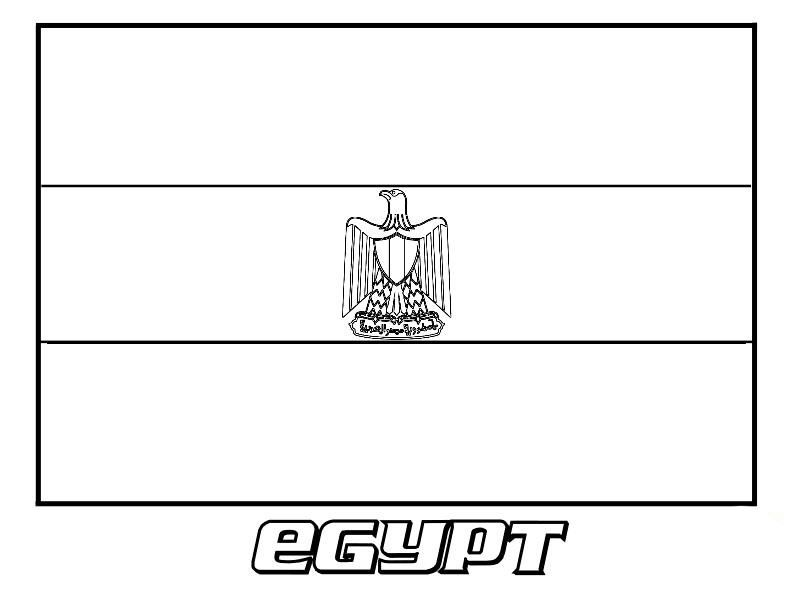 Flag Of Egypt Coloring Page Flag Coloring Pages Coloring Pages