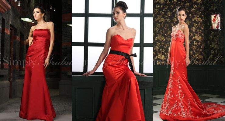 Crimson Red Bridesmaid Dresses - Ocodea.com