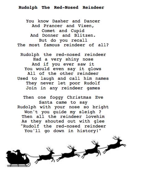 Holidays song lyrics
