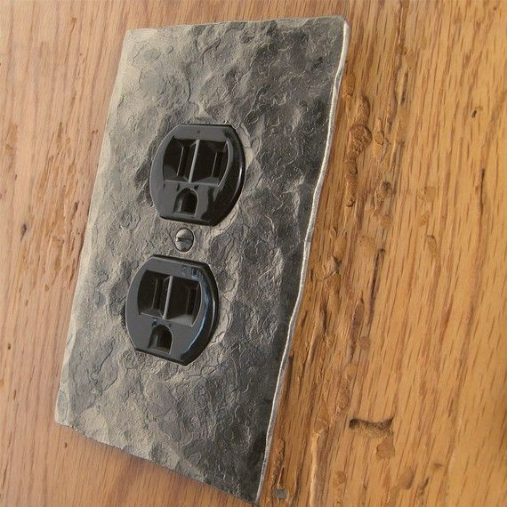 Outlet Cover Plate - Hammer Textured Single Plug/Outlet Wall Plate on Etsy, $16.00