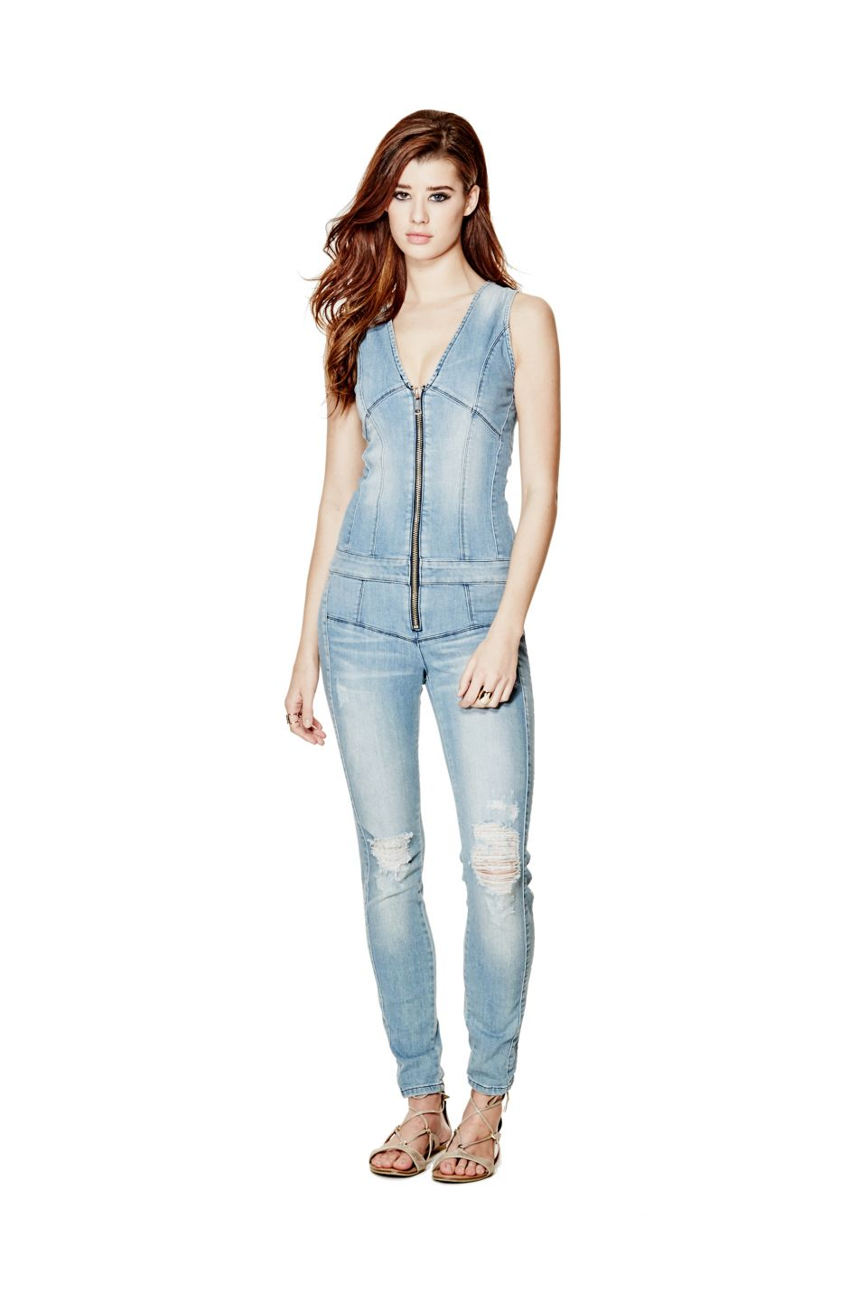 16261761dfa3 Maxine Zip-Up Jumpsuit   GUESS.com Jeans Jumpsuit