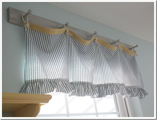 Love This Valance And How It Was Hung On A Peg Rack Hmm Or Could Be Twine With Clothes Pins Great For My Vintage Laundry Room