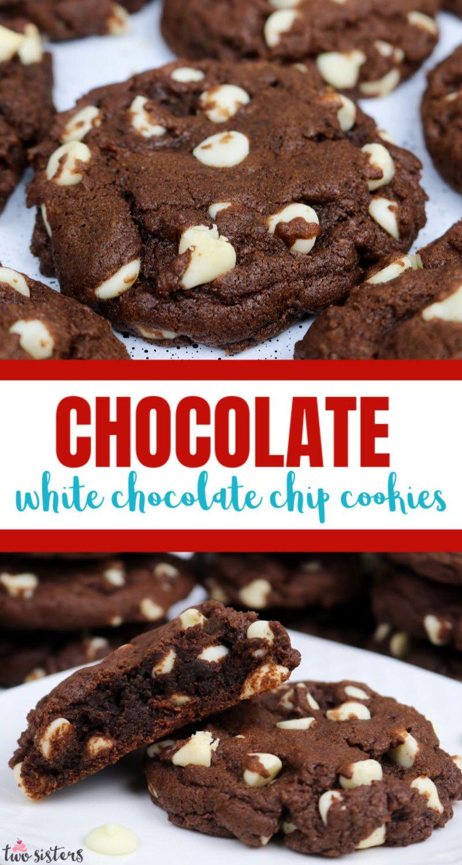 Chocolate White Chocolate Chip Cookies Recipe In 2020 White Chocolate Chip Cookies Chocolate Chip Cookies White Chocolate Chips