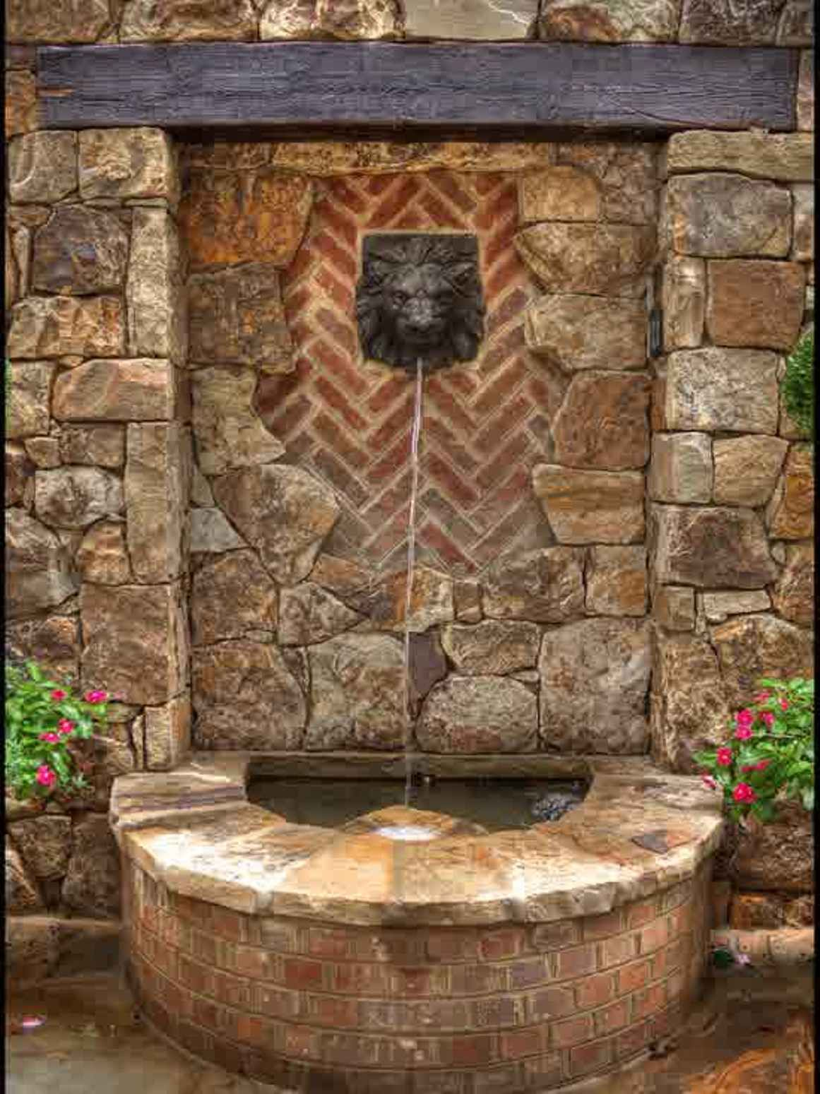 Wall stone cool backyard fountains great addition cool - Small garden fountain ideas ...