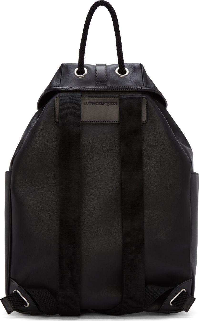edbbde8b512 Alexander McQueen Black Perforated Skull Backpack   Alexander ...