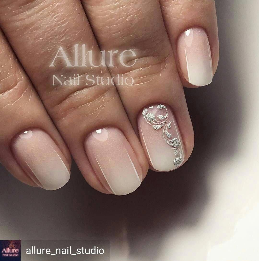 French Nails Heart Pink Cutefrenchnails In 2020 With Images