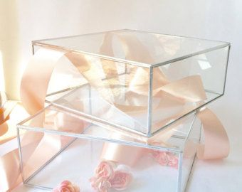 Glass Box Glass Display Box Glass Jewelry Box by jacquiesummer