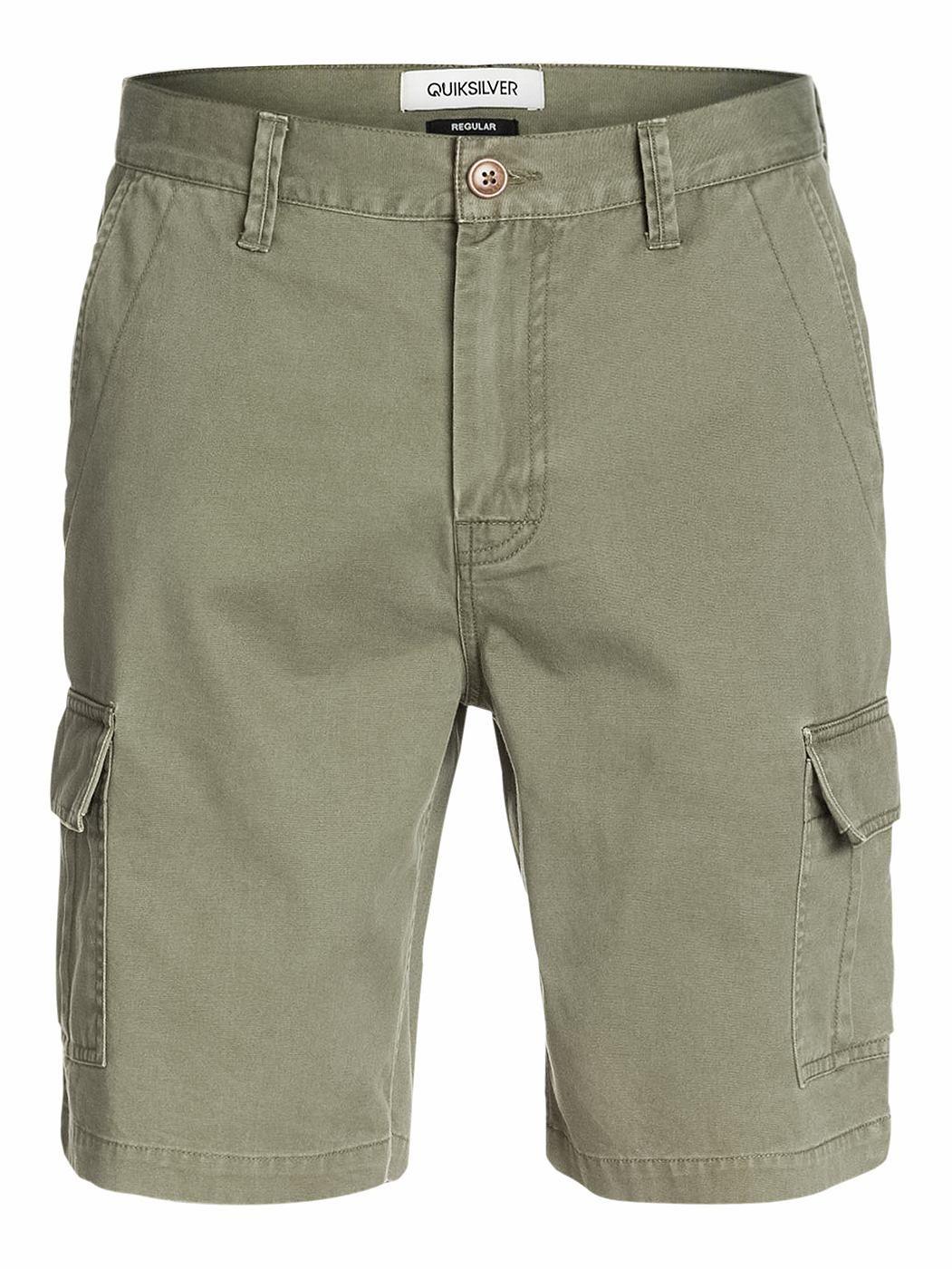 """Krango Up - QUIKSILVER 21"""" Cargo-Shorts für Männer  Diese 21"""" Cargo-Shorts kommen mit Straight Fit und sind die perfekte Ergänzung zu der Quiksilver Frühjahrs Kollektion 2015. Weitere Features sind: ein mittelschwerer 29g / m2 Twill-Stoff und ein 6-Pocket-Design.  Merkmale:  21"""" Cargo-Shorts, Mittelschwerer 29g / m2 Twill-Stoff, 6-Pocket-Design, Stückfärbung, Kontrast-Taschen,  ..."""