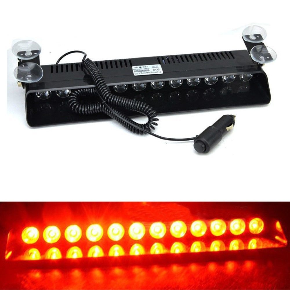 Strobe Lights For Cars Enchanting Red 12 Led Car Emergency Dashboard Warning Strobe Lights Flashing 2018