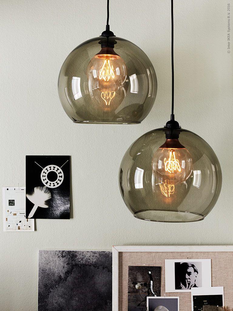Glaskugel Lampe Ikea