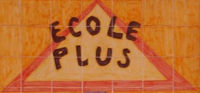 une partie du logo École Plus Paris