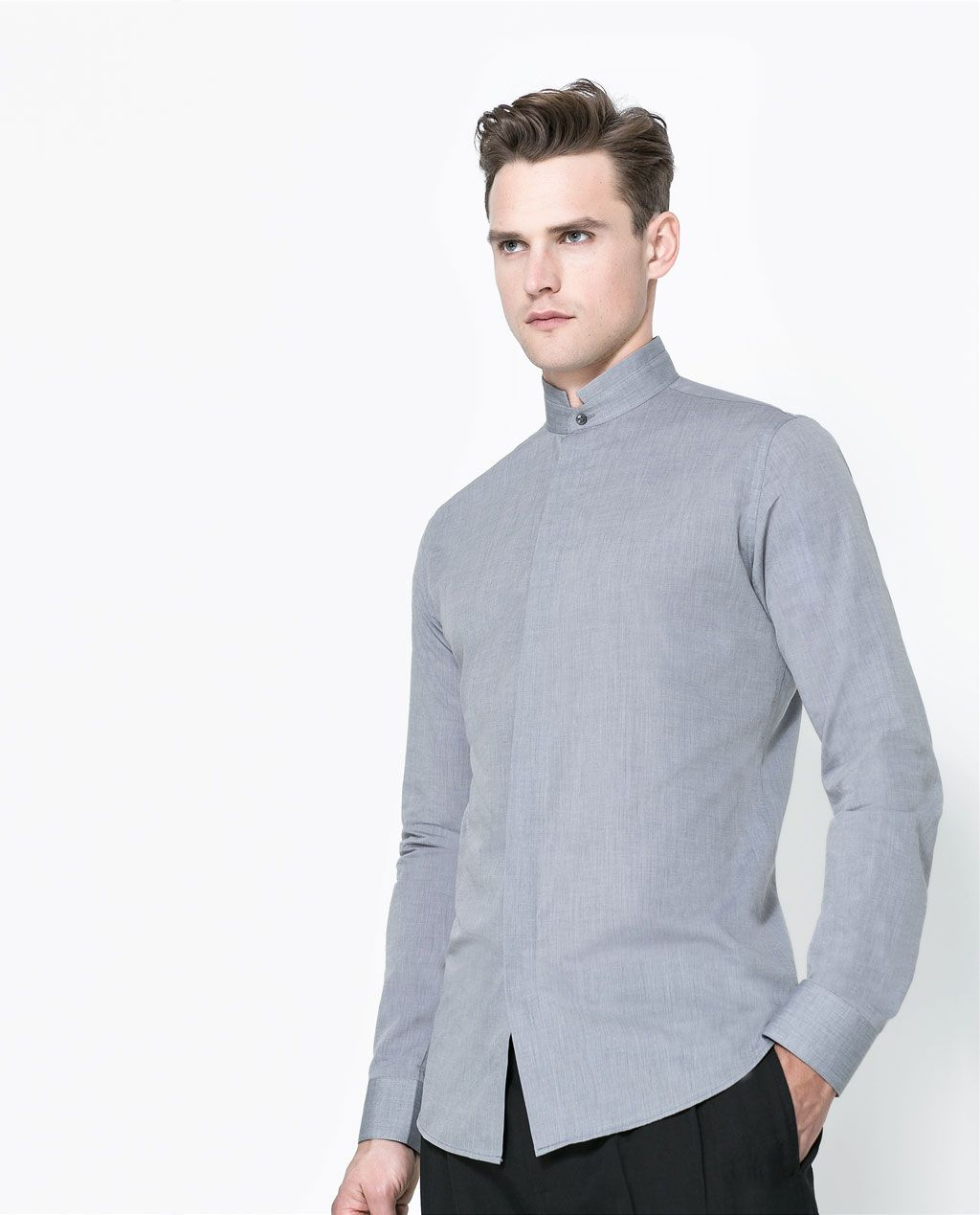 MAO COLLAR SHIRT from Zara