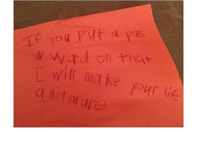 31 Hilariously Disturbing Notes From Kids