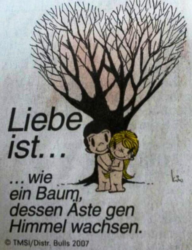 Wie Ein Baum Dessen äste Gen Himmel Wachsen Liebe Liebe