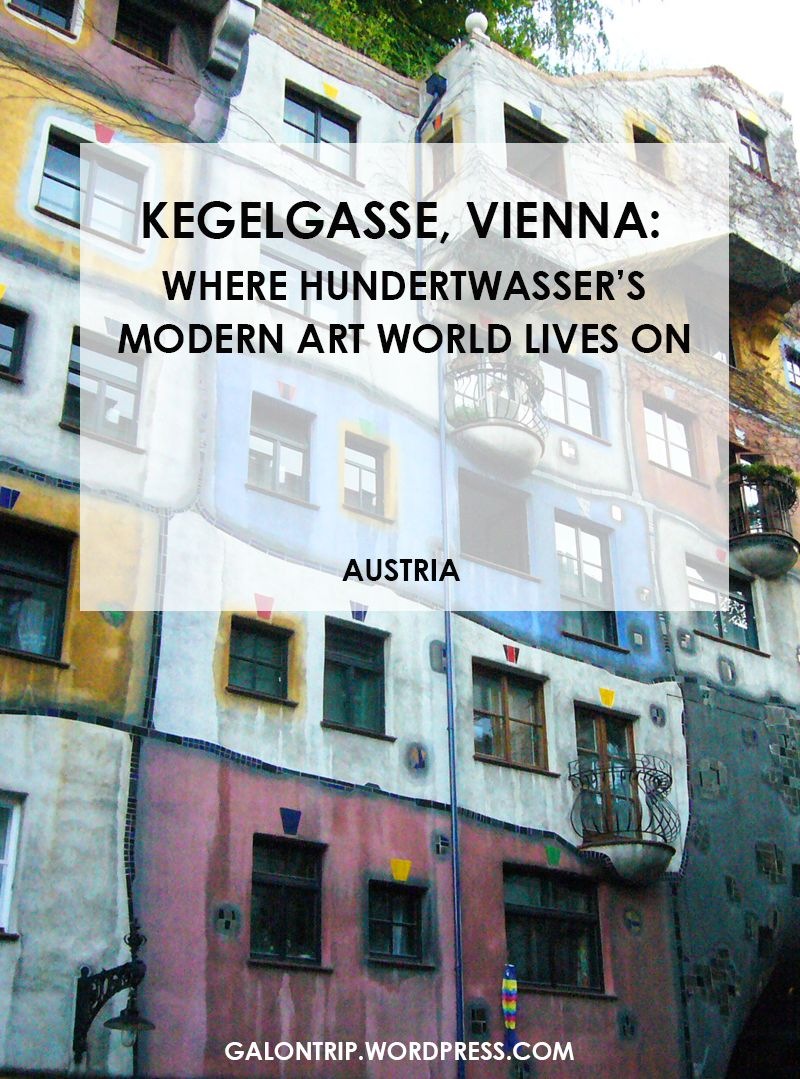 Kegelgasse is known for the center of Hundertwasser's legacy in architecture and paintings. It's a distinctive area marked by unconventionally modern architecture in the middle of Austria's capital dominated by Baroque, Roccoco, Renaissance buildings no one should miss