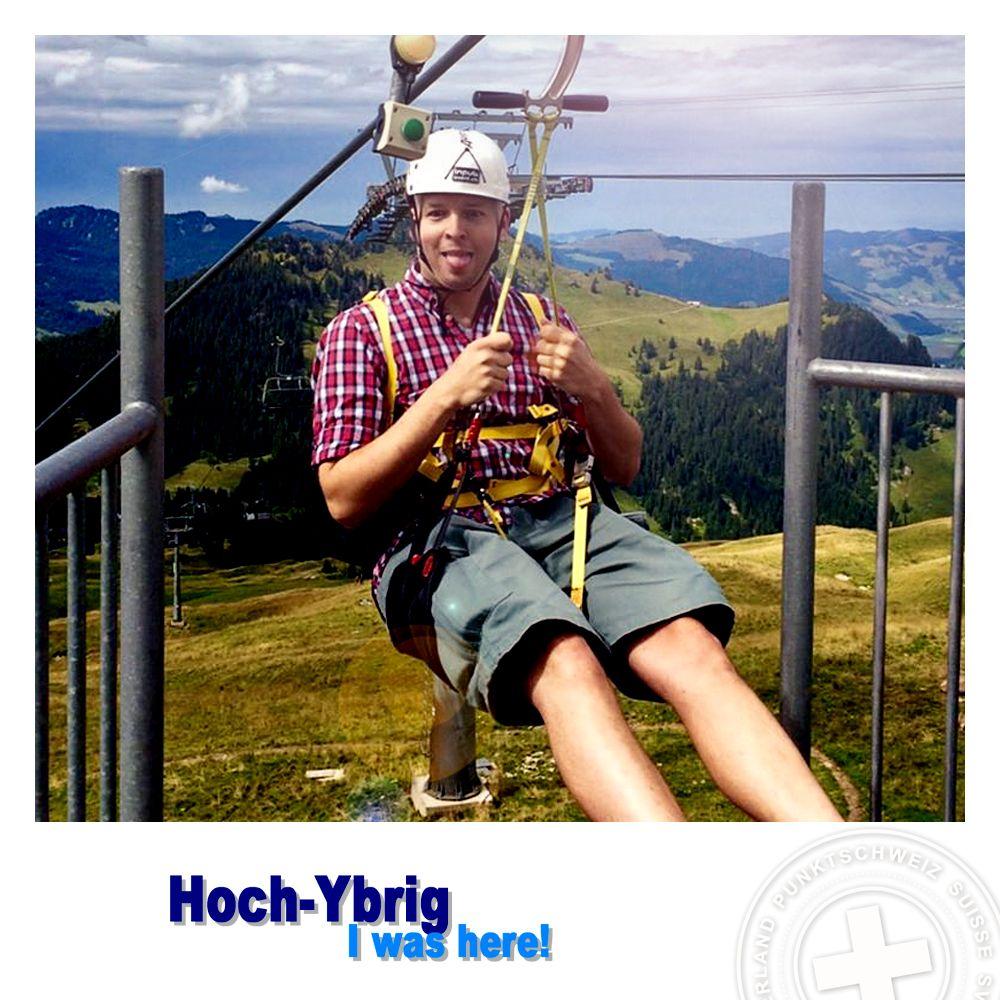 Voll de Spass auf dem Hoch-Ybrig. Mit dem Sternensauser (Flying Fox) der längsten Seilrutsche der Welt. :)
