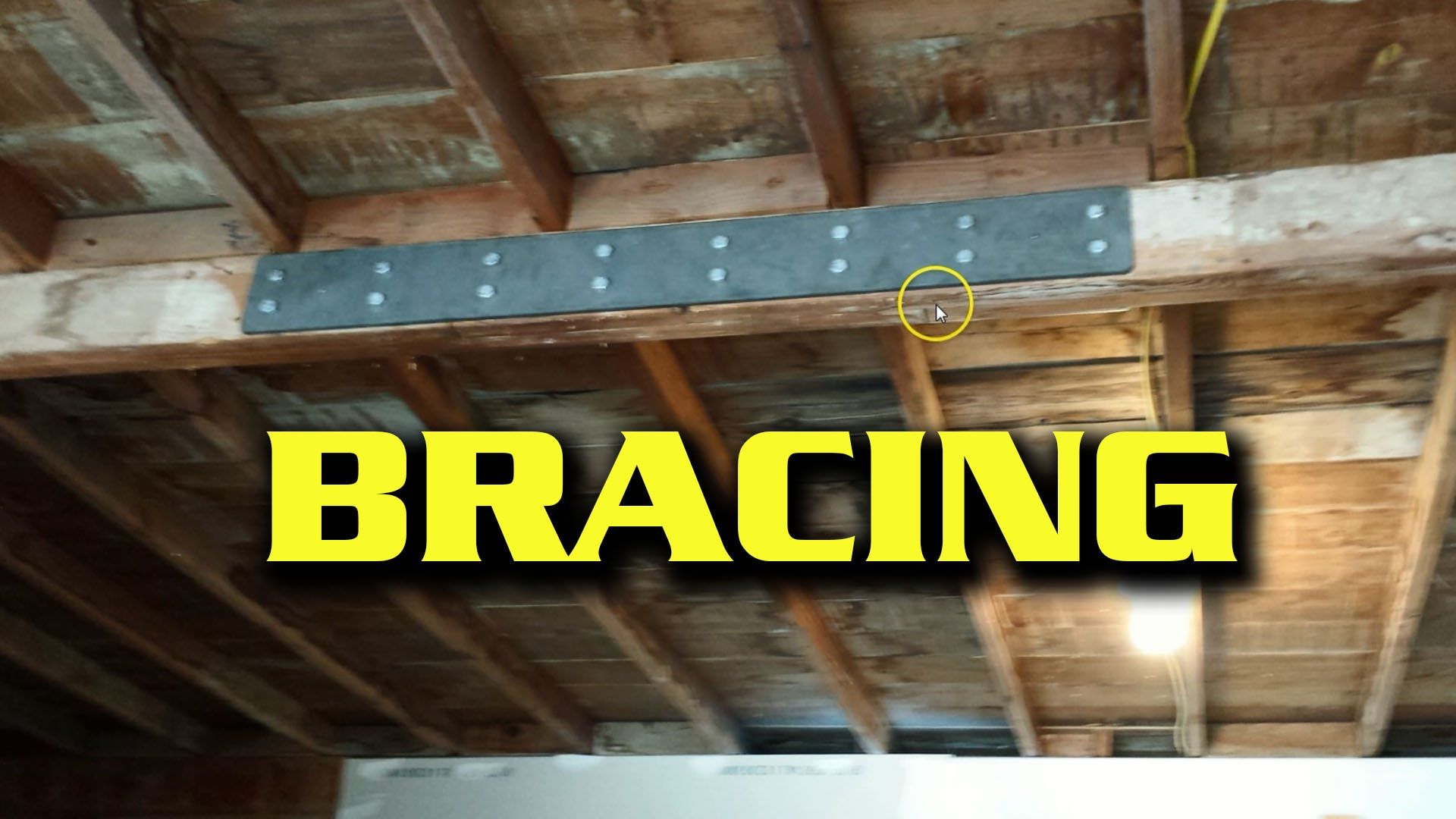 Quick Fix Bracing A Sagging Garage Beam Garage Design Garage Roof Repair