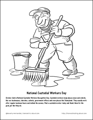October Worksheets and Coloring Pages: National Custodial