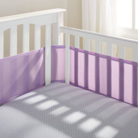 Breathablebaby Classic Breathable Baby Mesh Crib Liner Anti Bumper Non Padded Lavender Walmart Com Crib Liners Cribs Mesh Crib Bumper