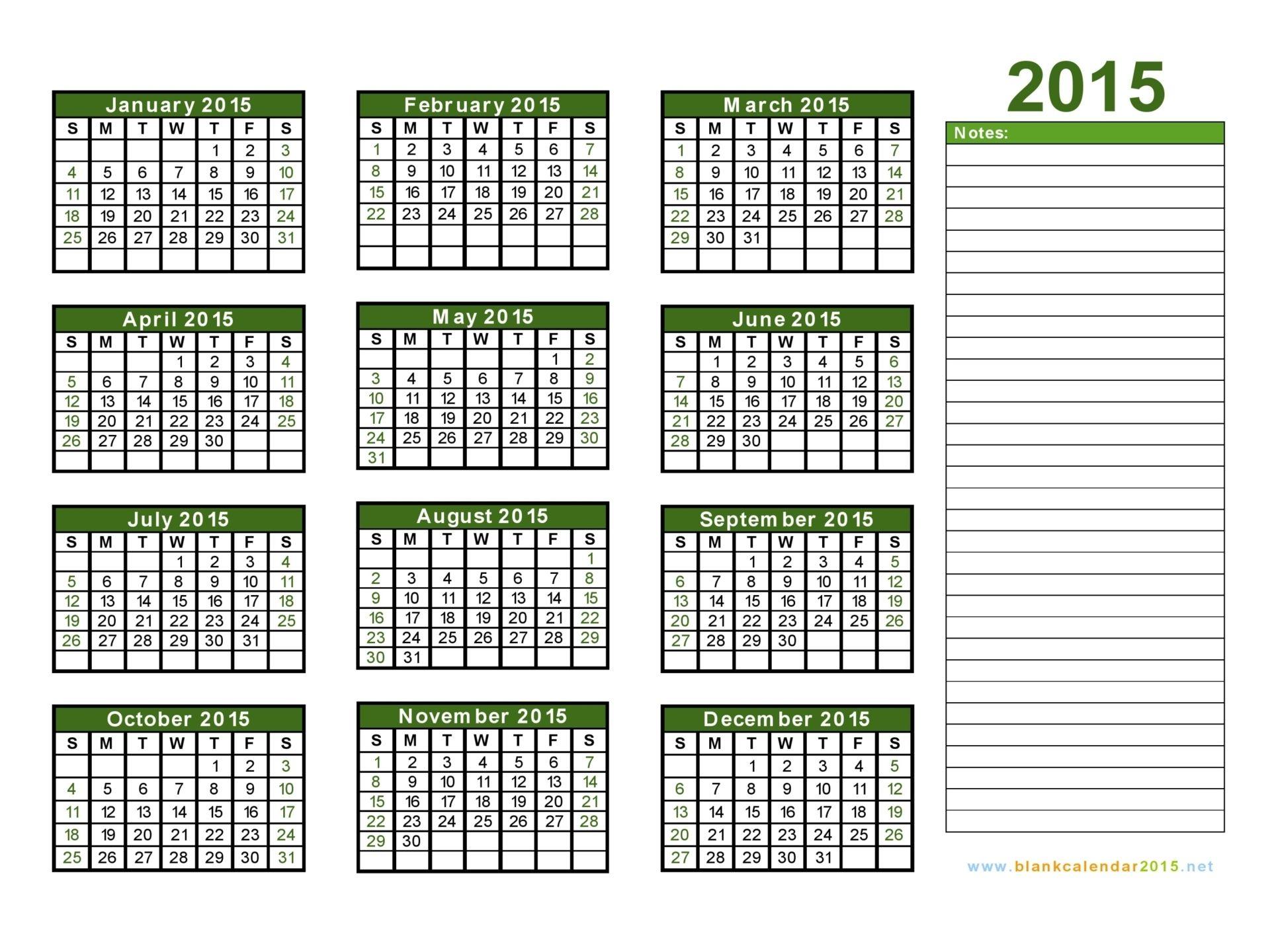 2015 calendars | Blank Calendar 2015 - Free Download Yearly Calendar ...