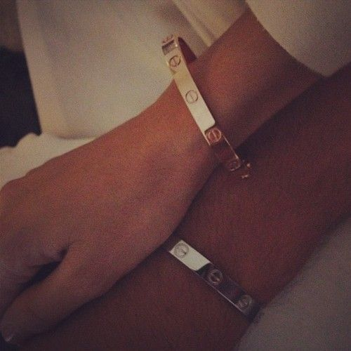 His Her Cartier Love Bracelets