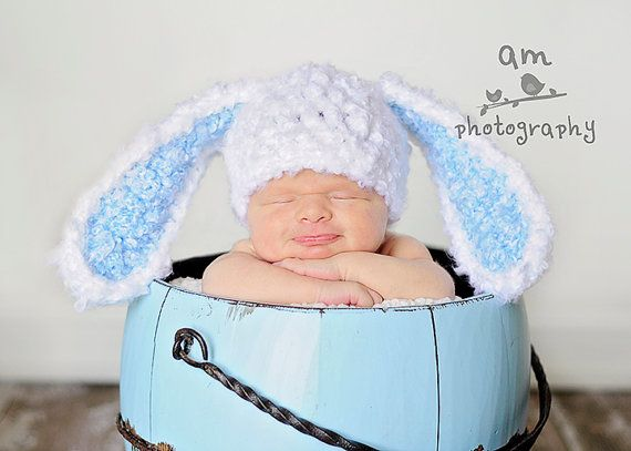 Marshmallow Bear and Bunny Hats ~ For Newborn Babies ~ Handmade Knitted Hats ~ Baby gift
