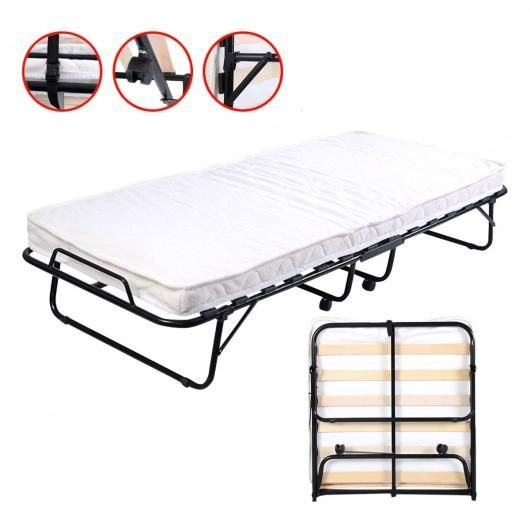 Folding Bed With Foam Mattress Casters Folding Beds Folding