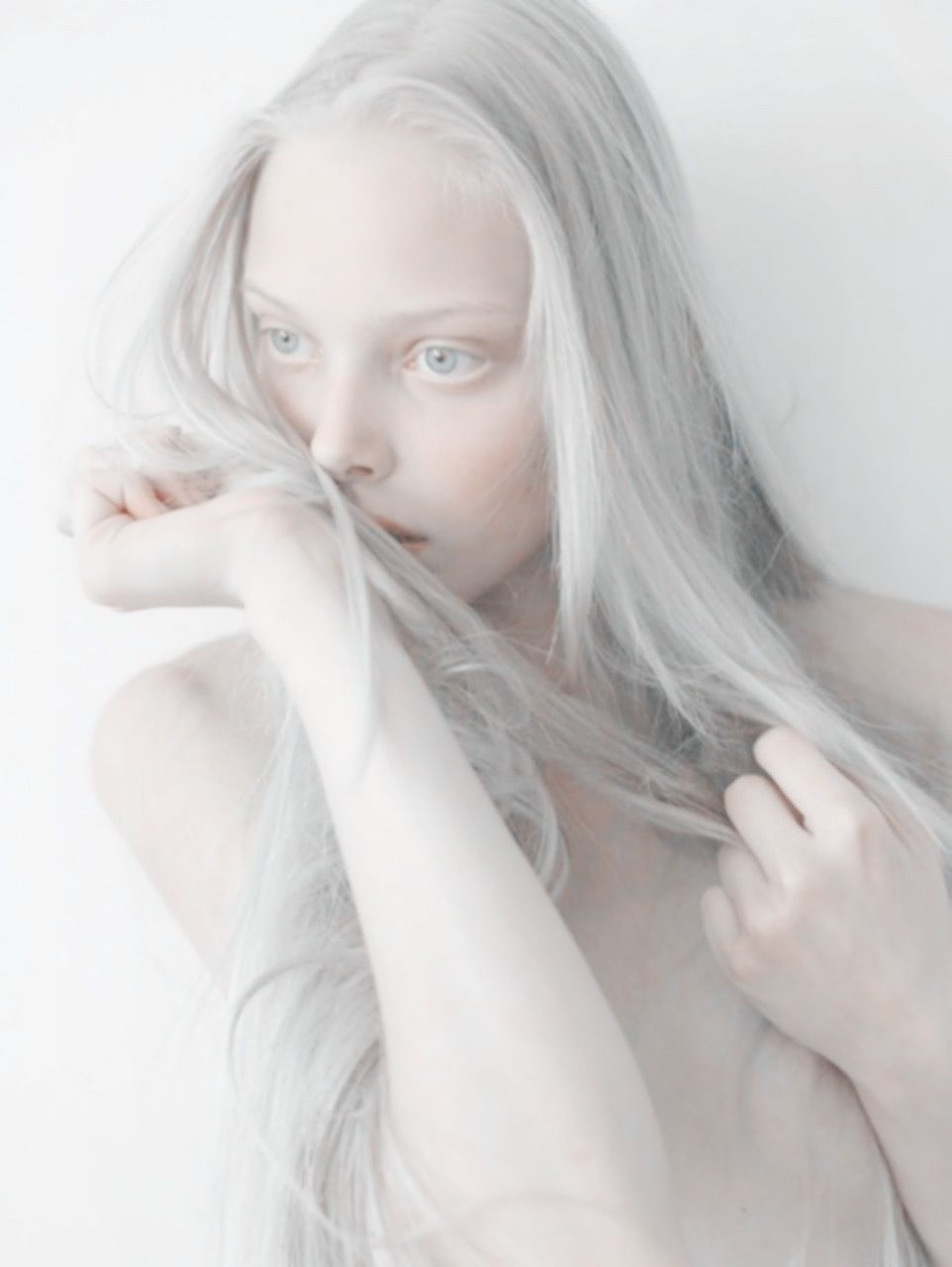 Gorgeous albino women nude #7
