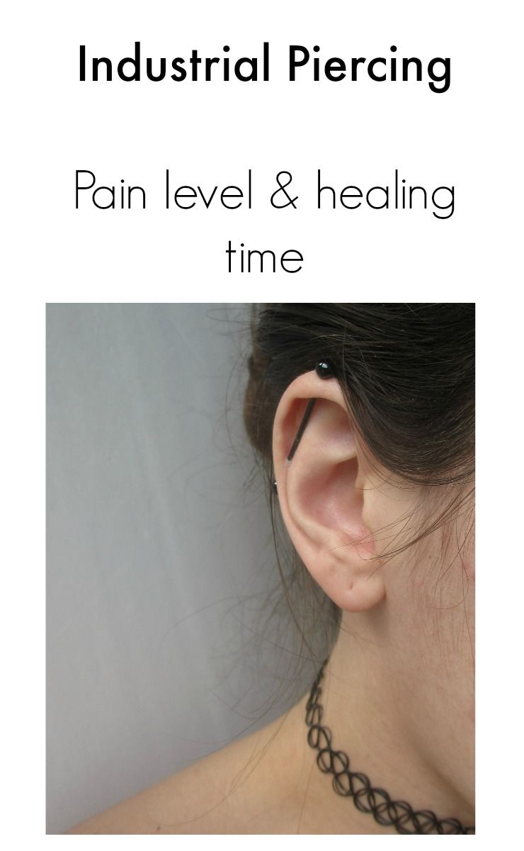 Body piercing pain chart  Industrial piercing pain level and healing time  Good To Know