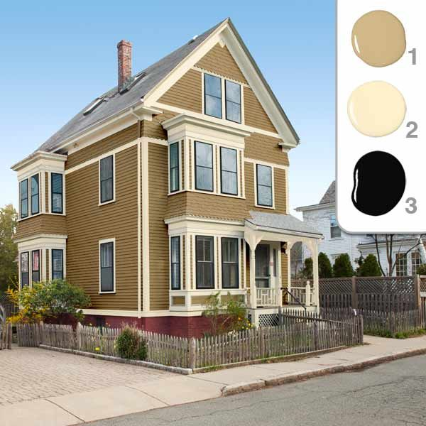 Picking the Perfect Exterior Paint Colors | Mustard color scheme ...