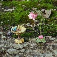 Miniature Fairytale Birdbath and Lamp