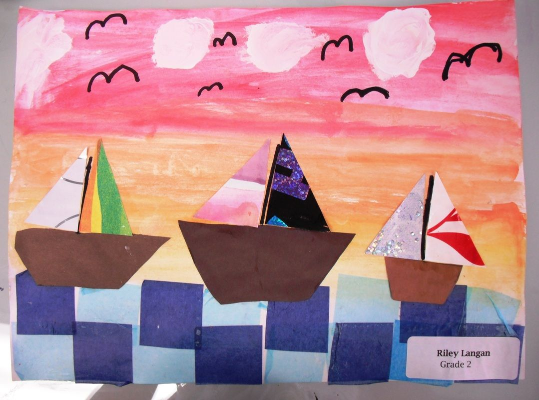 watercolor sky tissue paper water cut out pirate ship wrapping